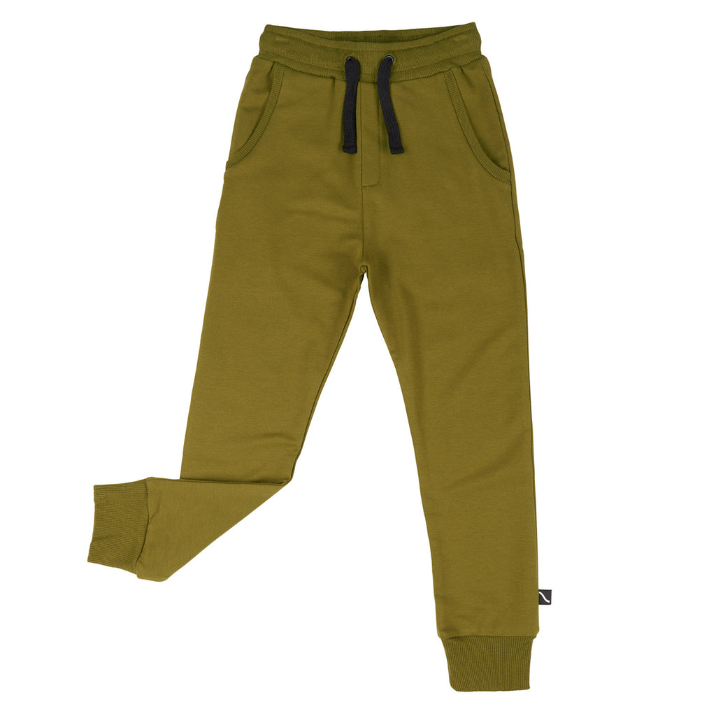 CarlijnQ Basics - SWEATPANTS GREEN
