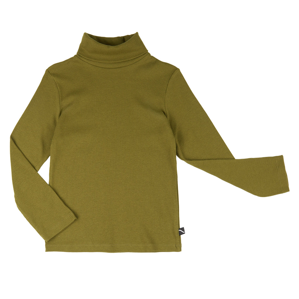 BASICS - LONGSLEEVE TURTLE NECK RIBBED