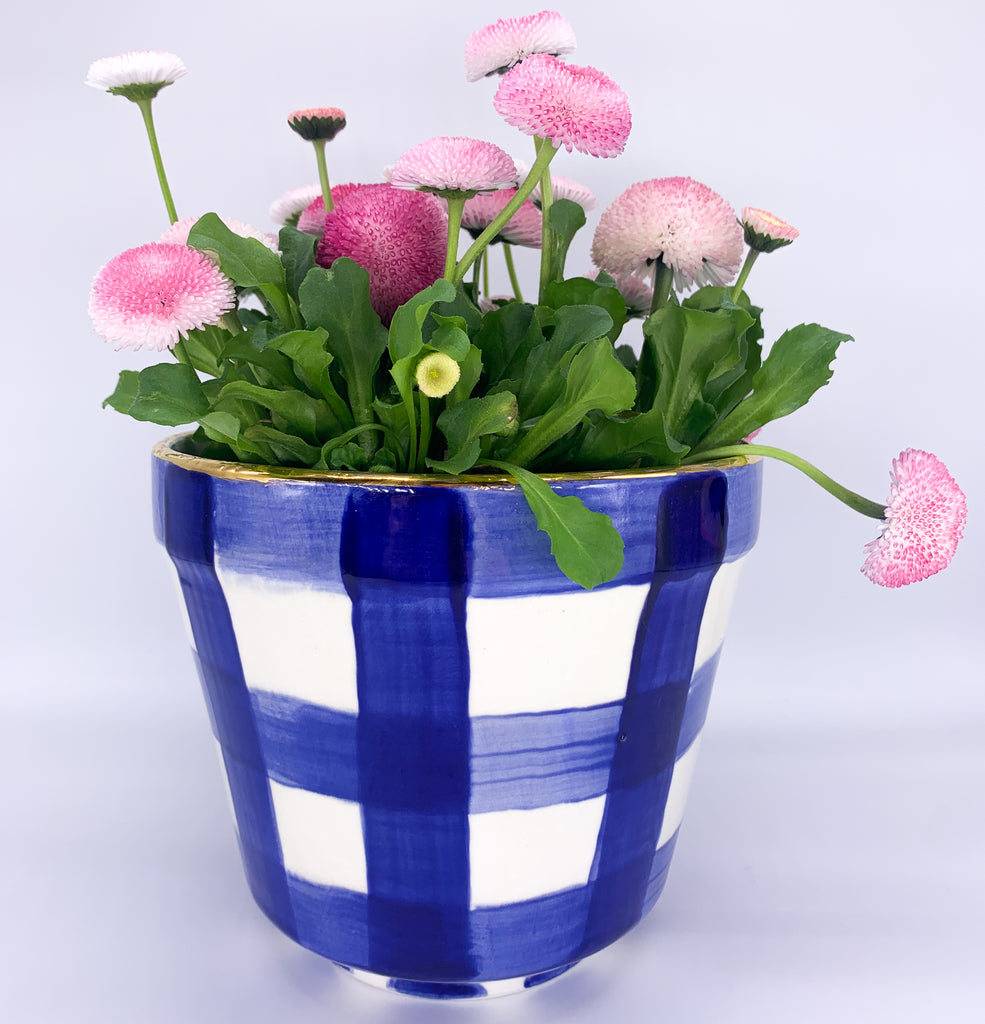 Flower Pot Checkered