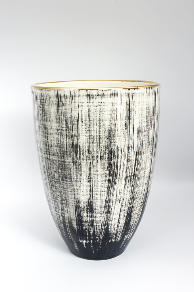 Vase Brushed Black L