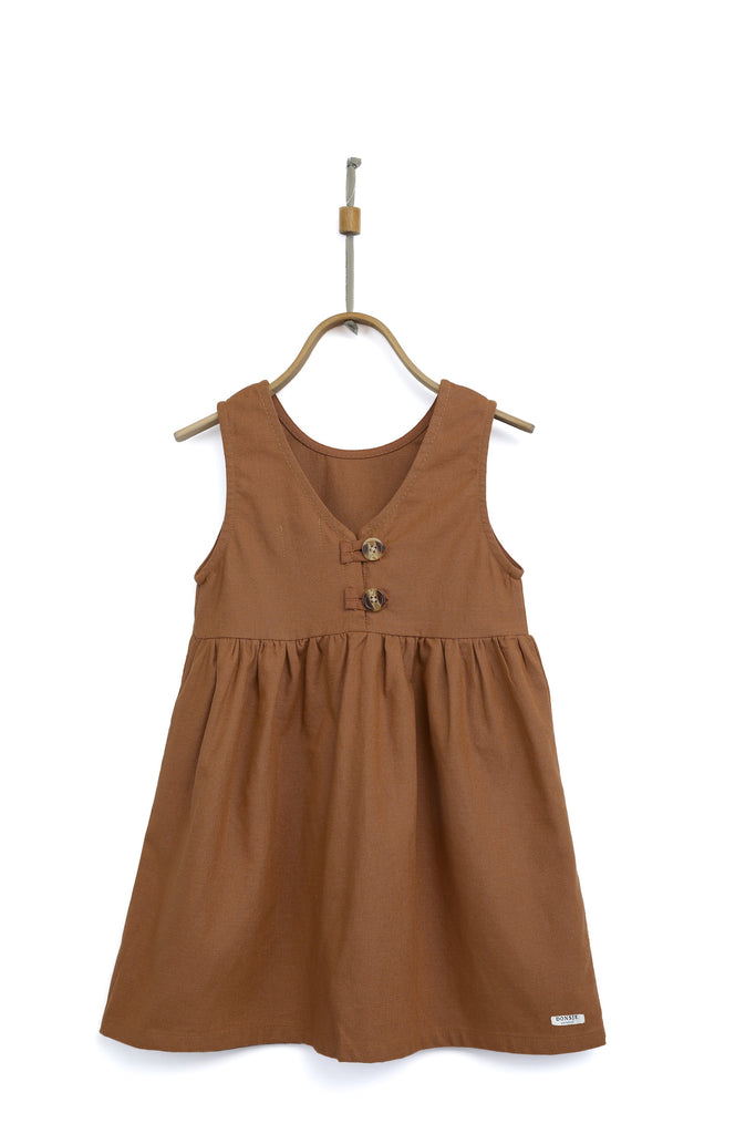LISA DRESS - RUST