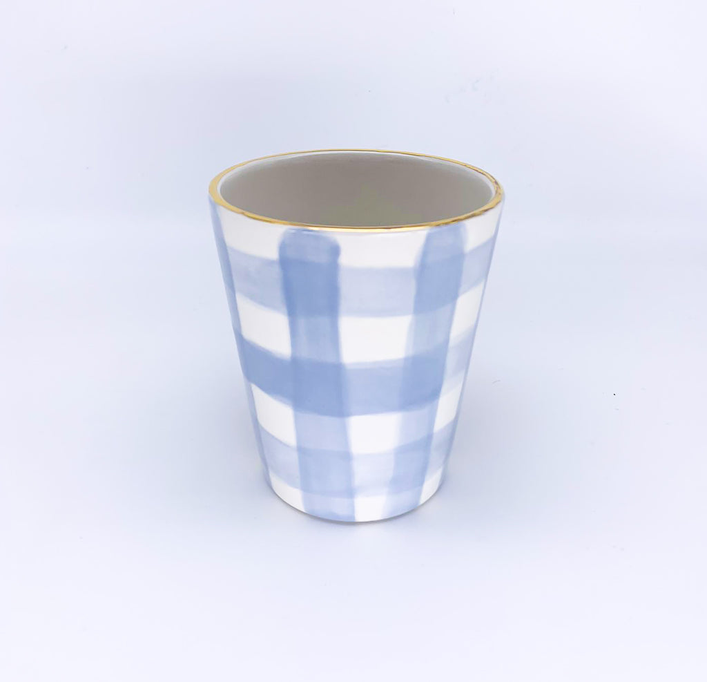 Small Vase Checkered