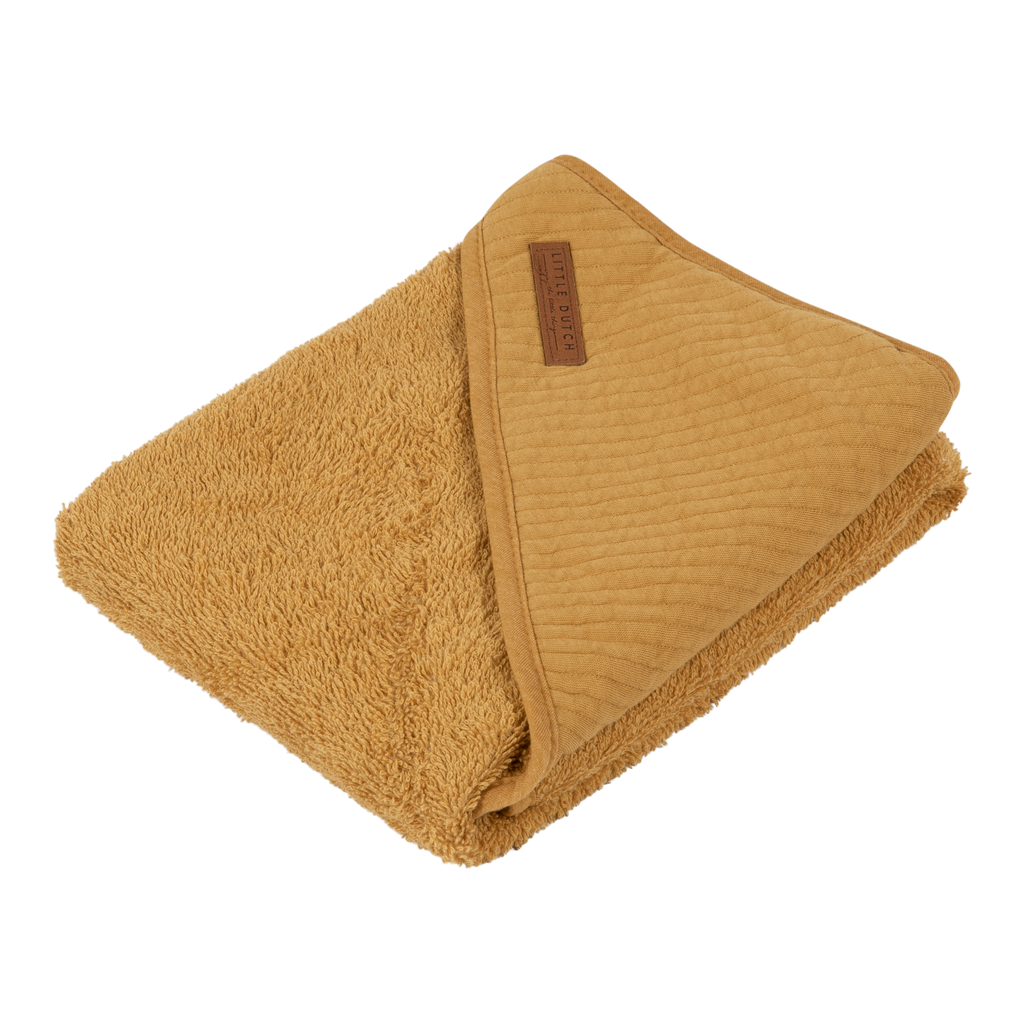 Hooded towel Pure Ochre