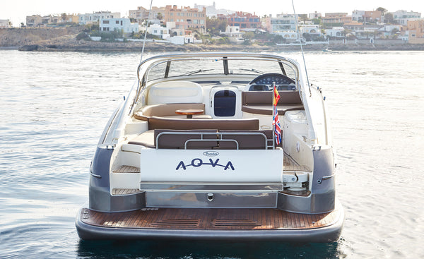 BAIA AQUA 54 - Timeless Boats Ibiza, best boat rental in Ibiza. Voted No1 Sunset Cruise