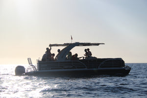 """Relax"" Full day Cruise (Pontoon Boat) - Timeless Boats Ibiza, best boat rental in Ibiza. Voted No1 Sunset Cruise"