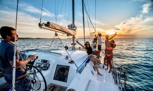 Catamaran - Timeless Boats Ibiza, best boat rental in Ibiza. Voted No1 Sunset Cruise