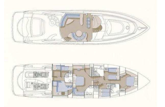 SUNSEEKER PREDATOR 82 - Timeless Boats Ibiza, best boat rental in Ibiza. Voted No1 Sunset Cruise