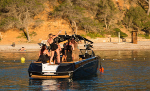 Stag & Hen (Sports Boat) - Timeless Boats Ibiza, best boat rental in Ibiza. Voted No1 Sunset Cruise