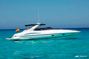 sunseeker 34' (Day Cruise) - Timeless Boats Ibiza, best boat rental in Ibiza. Voted No1 Sunset Cruise