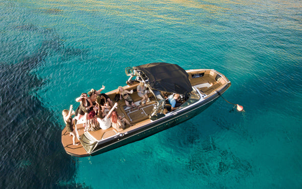 Sunset Cruises (Sports Boat) - Timeless Boats Ibiza, best boat rental in Ibiza. Voted No1 Sunset Cruise