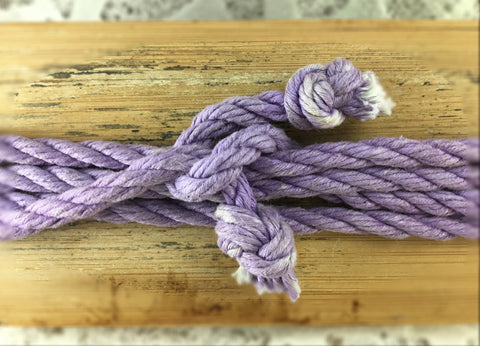 Lilac Cotton Rope Laces