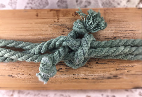 Turquoise Cotton Rope Laces