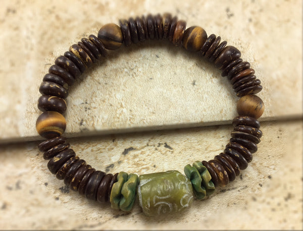 Men's Tiger Eye and Coconut Wood