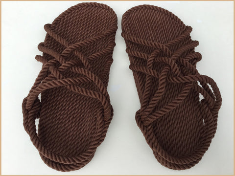 Women's Brown Rope Sandals