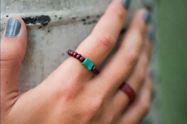 Rosewood Mala Toe/Finger Rings