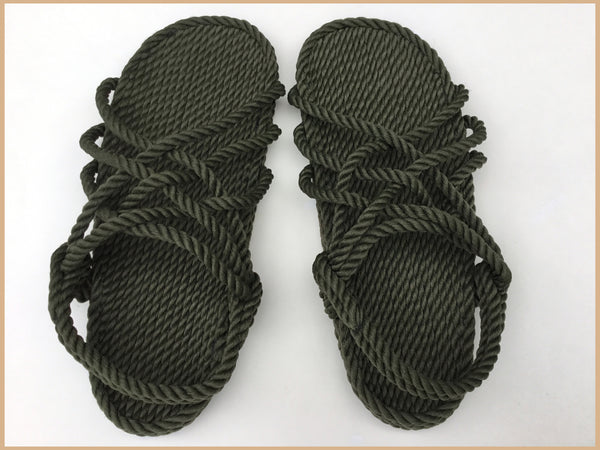 Women's Olive Rope Sandals