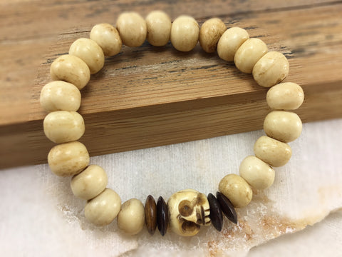 Women's Bone Bead Skull Mala