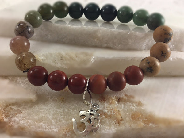 Chakra Mala with Sterling Om