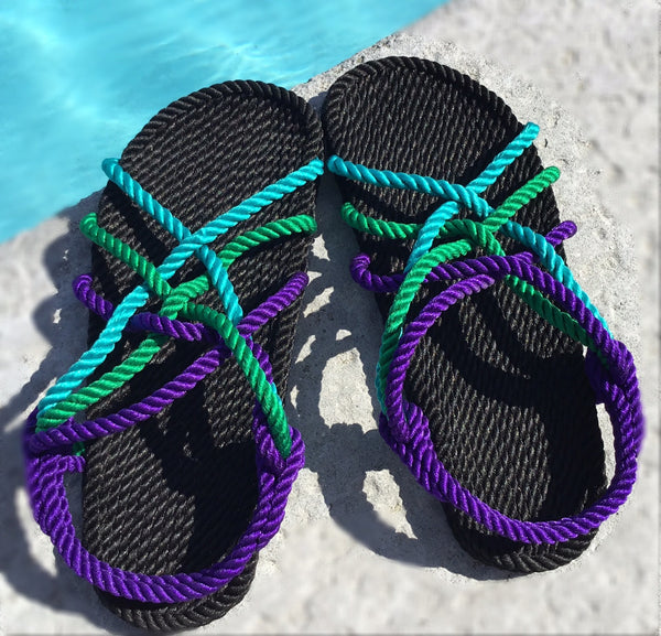 Women's Purple Green Classic Rope
