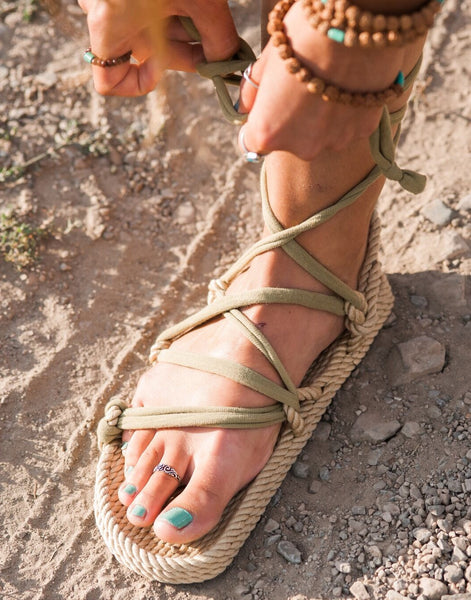 Village Annie's Sandals Rope Natural Lace 0Ow8PkXn