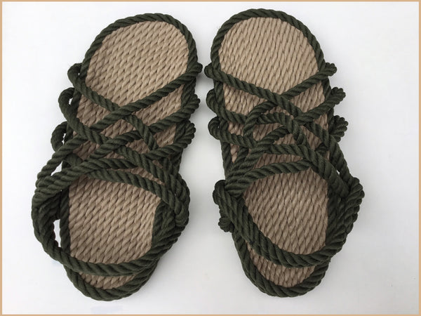 Women's Olive/Natural Sandals