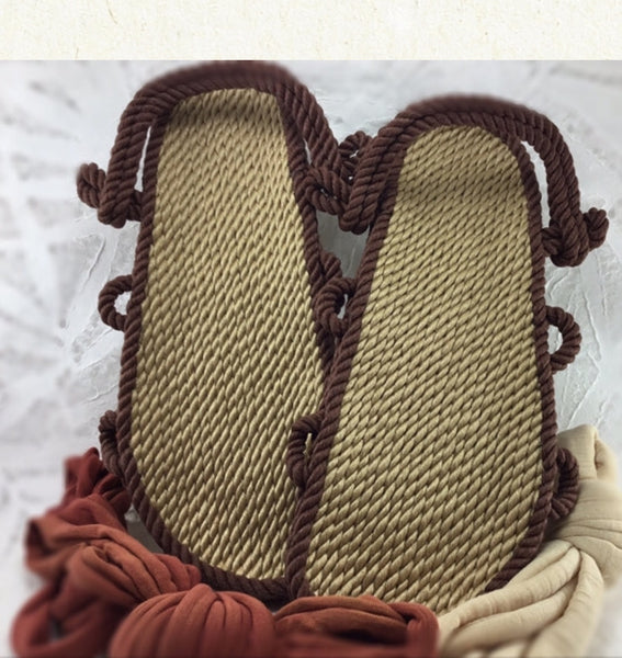Two Tone Lace Rope Sandals **Laces Sold Separate