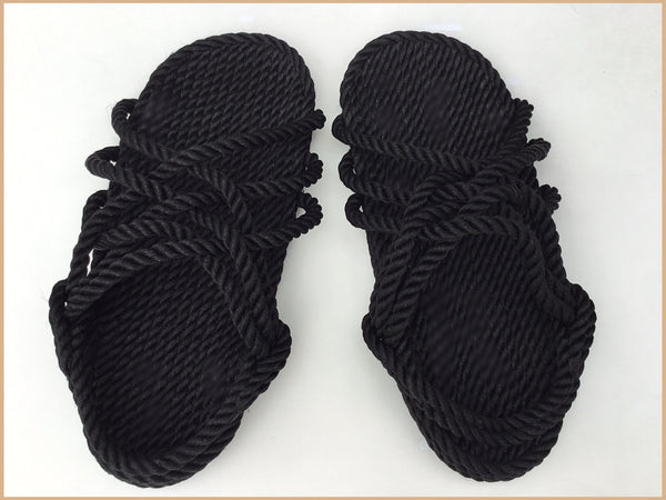 Men's Black Rope Sandals