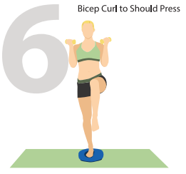 Bicep Curl to Shoulder Press – Complex Two Muscle Exercise for Whole Body Workout