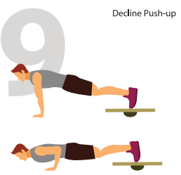 Decline Push Ups for Lower Chest