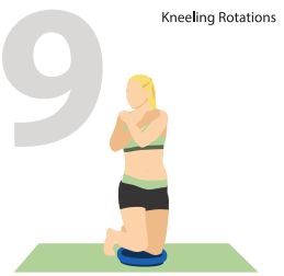 Kneeling Rotations for Stronger Core