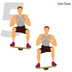 See-Saw For Stronger Glutes & Knees