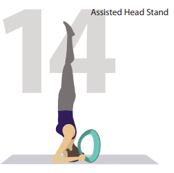 assisted head stand yoga pose