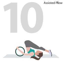 assisted plow wheel yoga pose