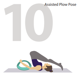 assisted plow yoga pose