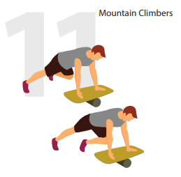 mountain climbers roller board position