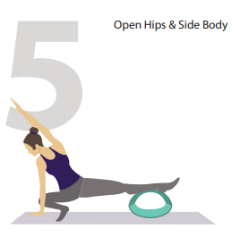 open hips and side body yoga pose