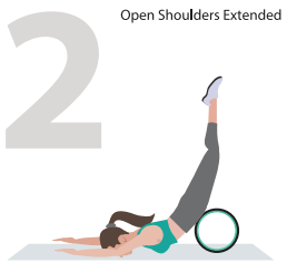 open shoulders extended wheel yoga pose
