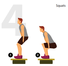 squats roller board position