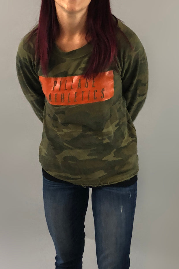 Pillage Athletics Camo Sweater