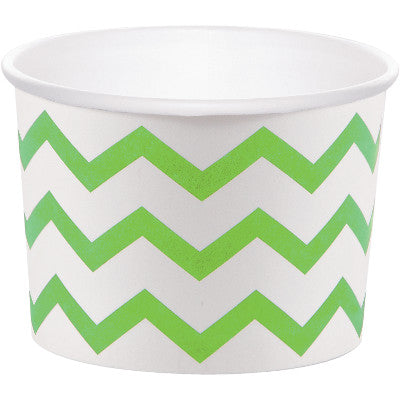 Green Chevron Treat Cups for Halloween Party