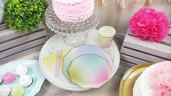 Pastel Ombre Unicorn Princess Mermaid Party