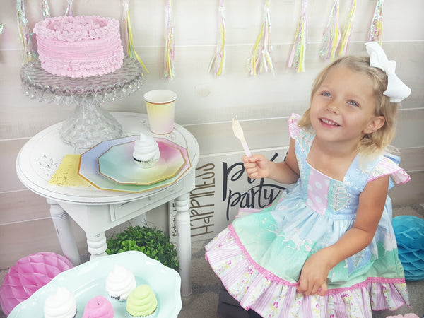 Pastel Ombre Unicorn Mermaid Princess Party