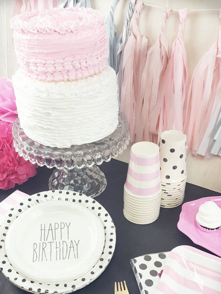 Pink and Black Paris Themed Birthday Party or Graduation or Baby Shower