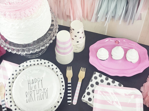 Pink and Black Themed Paris Baby Shower