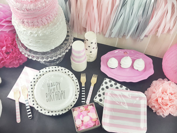 Paris Pink and Black Birthday Party Theme