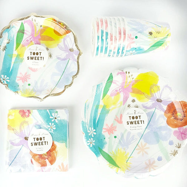 Mother's Day Flower Plates