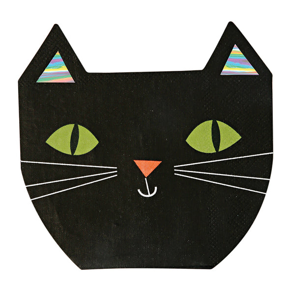 Black Cat Napkins for Halloween Party Supplies and Decorations