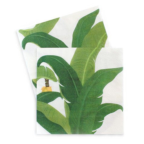 Tropical Leaf Napkins for a Tropical Themed Party