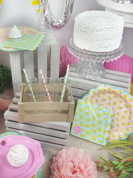 Pink Lemonade Party Supplies for a Pink Lemonade Birthday Party Theme