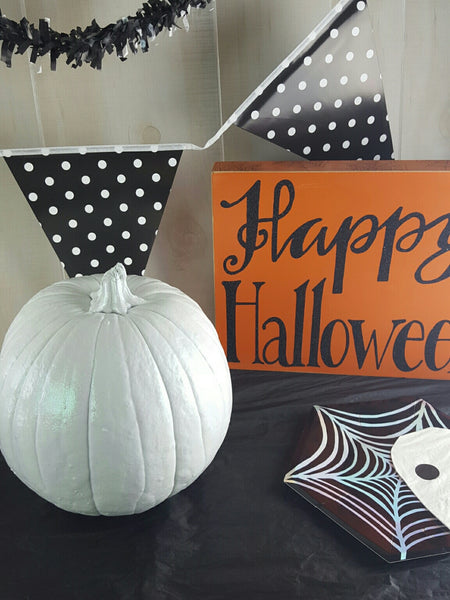 White Holographic Pumpkin